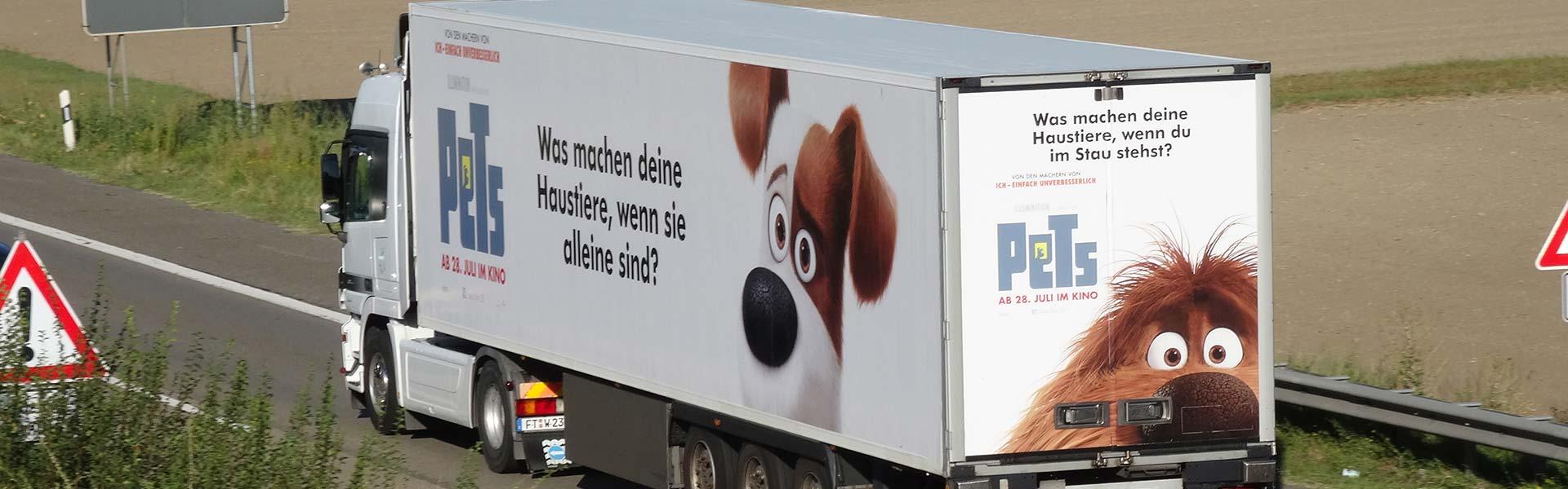 Mobile Werbung - Werbung auf LKW